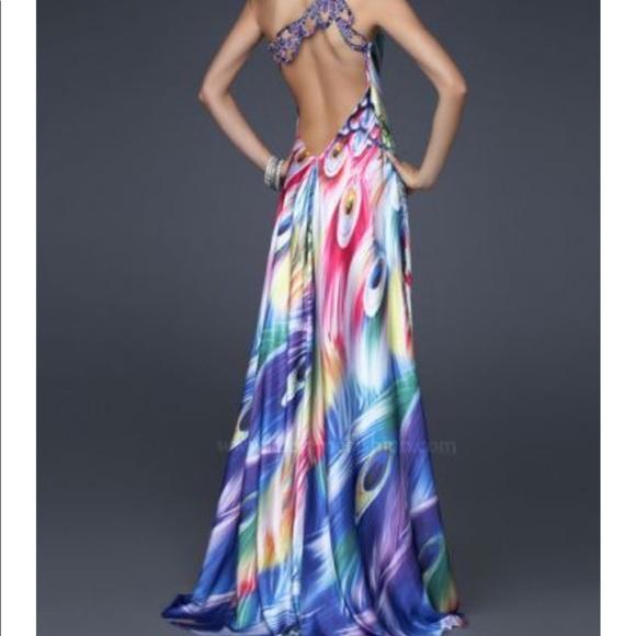 La Femme Peacock Dress